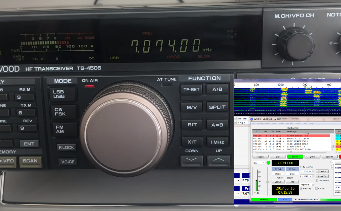 Kenwood TS-450S İle Digital Mode İçin PC-Telsiz Kablo Bağlantısı